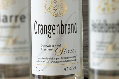 Orangen-Obstbrand